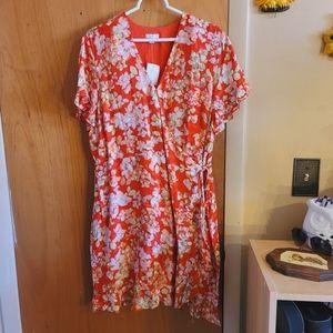 J.jill floral wrap dress NWT